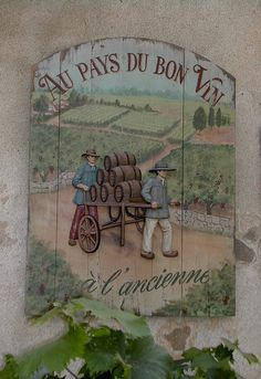 *French wine sign