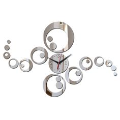 Circles Clock Wall Decal //Price: $ 11.95 & FREE shipping //  #walldecal #wallart #homedecoration