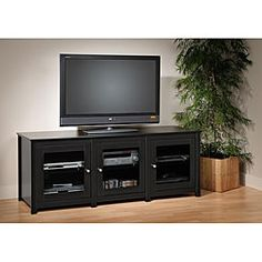 """Broadway Black 60-inch Plasma/ LCD TV Stand 63"""" $331 O.com (also saw at Sears)"""