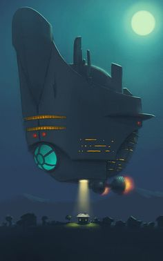 Spaceship hovering