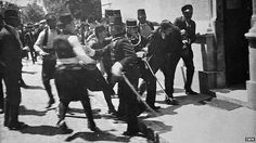 Gavrilo Princip wasarested right after he shot the archduke.