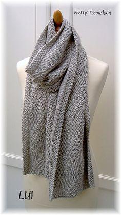 """Echarpe """"Diagonales"""" - """"Diagonal stripes"""" scarf - LUI by Pretty Tchouskaïa"""