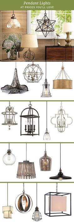 Whether you're entertaining in the dining room or working in the home office, lighting sets the mood. Explore pendant lights in geometric, retro, or minimalistic aesthetics. #pendant #lighting #kitchen