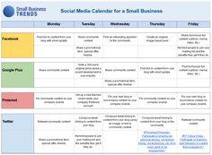 FREE Small Business Social Media Calendar Template / smallbiztrends.com