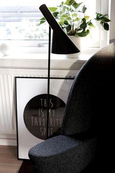 Via Bungalow5 | AJ Floor Lamp | This Is My Favourite Spot Print