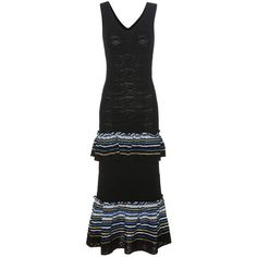 Peter Pilotto Knitted Jacquard Dress (23.182.575 IDR) ❤ liked on Polyvore featuring dresses, black, peter pilotto dress, jacquard dress and peter pilotto