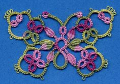 tatting patterns | Tatting, Beading and Needlework: Butterfly with Cluny Petals
