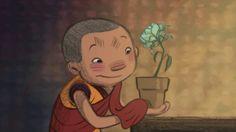 Esta hermosa animación nos muestra una pequeña historia sobre un monje budista tibetano en entrenamiento llamado Dechen. El niño es unapasionado por la jardinería y una noche de tormenta rescata una hermosa flor, la cual planta en una maceta y lleva al monasterio.