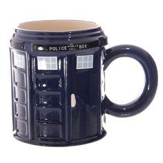 Novelty Ceramic Police Box Mug Doctor Who Style by getgiftideas
