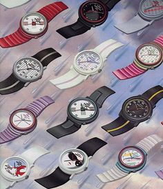 80s Timex Watercolors