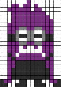 Evil Minion Despiciable Me perler bead pattern