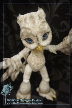 One of a kind - Hoot the Owl - ball joint doll BJD -  Custom Colored OOAK. $295.00, via Etsy.