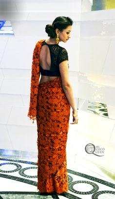 #indiansaree #sari #frenchlace #indianweddingwear #delhifashionblogger #streetstyle #ootd #todayiamwearing #indianwedding