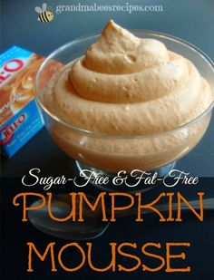 Thanksgiving is not the best time to be dieting. But if you are trying to cut back on calories, consider this for a Thanksgiving dessert. It's light and fluffy and has all of the flavor of pumpkin pie!