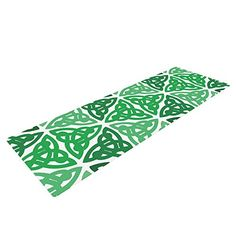 "KESS InHouse KESS Original Celtic Knot Green Exercise Yoga Mat, Forest Mint, 72"" by 24"" ** More info could be found at the image url."
