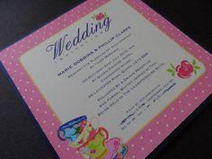 Afternoon Tea wedding invite