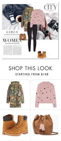 """""""TALE OF THE CITY⚡"""" by iambmogirl ❤ liked on Polyvore featuring GET LOST, Marc Jacobs, Être Cécile, Timberland, UGG and Fallon"""