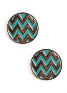 Zig Zag Stud Earrings $16.00