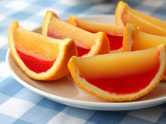 Vodka Sunrise Fruit Wedge Jelly Shots