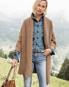 Part coat, part cardigan, completely beautiful. Two Kashmir goats spend a year producing the fleece for a single cashmere sweater — our most luxurious ever. In sumptuous heavyweight cashmere that's terrifically textured and supremely soft. The button detail adds flair.