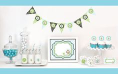 Hey, I found this really awesome Etsy listing at https://www.etsy.com/listing/169244180/blue-owl-baby-shower-decor-owl-baby