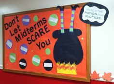 Potions to Success Bulletin Board (Don't Let Midterms Scare You!)