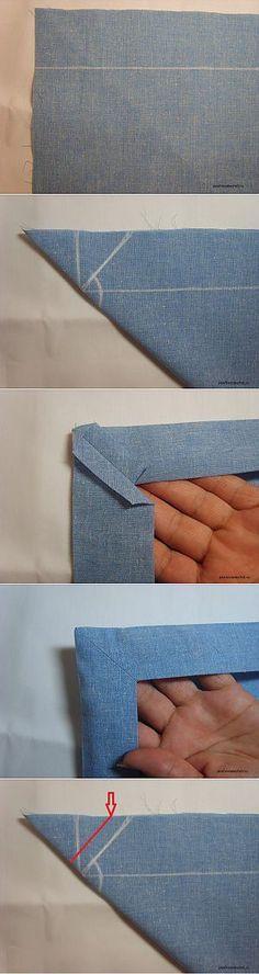Подгибка конвертом. Секреты умелых портних | Умелые ручки | Лоскутное шитье | Постила