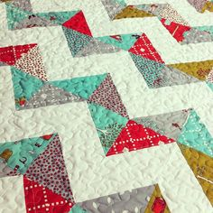 Little Apples Zigzag Baby Quilt by CoraQuilts