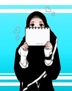Gambar mungkin berisi: satu orang atau lebih Cute Muslim Couples, Muslim Girls, Girl Cartoon, Cute Cartoon, Sarra Art, Hijab Drawing, Couple Sketch, 4 Wallpaper, Islamic Cartoon