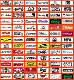 Logos marcas que muestran: rebeldia+personalidad+libertad+fuerza+diferencia+deporte+riesgo