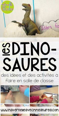 Les dinosaures - ideas, activities, and a poem to do with your students en français!