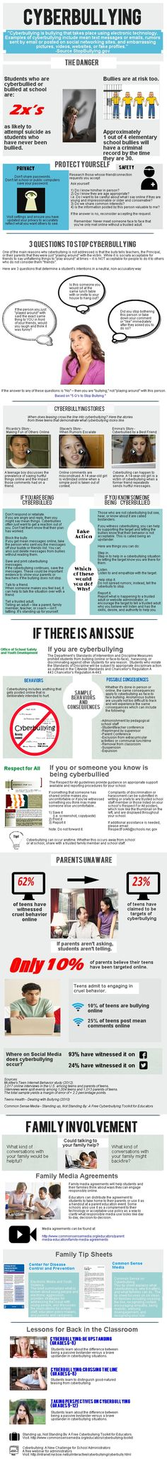 Infographic with Cyberbullying definition and how to prevent it. What Is Cyberbullying, Bullying And Harassment, Cyber Safety, Digital Citizenship, Library Lessons, Technology Integration, Anti Bullying, Digital Technology, Adolescence