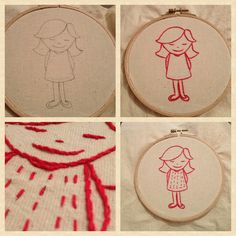 my first embroidery project Show And Tell, Dyi, Coasters, My Design, Workshop, Embroidery, Sewing, Projects, Crafts