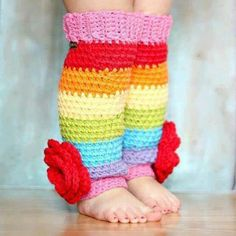 ..legwarmers! Minus the gigantic flowers of course :)