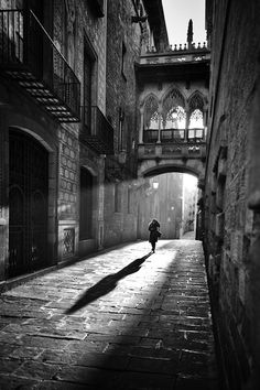 Barcelona / Black and White Photography, Back Street