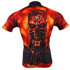 Blaze your way to the head of the pack in this fiery new Terminator jersey from Brainstorm Gear. This officially licensed jersey features elite moisture-wicking technology and solid construction that