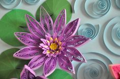 quilled orchids | 11/ Paper quilling