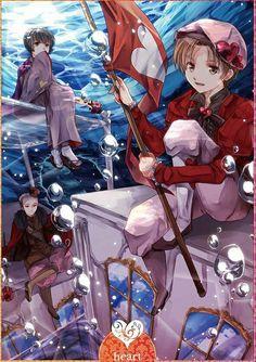 Hearts: King ~ Germany, Queen ~ Japan, Jack ~ N. Italy