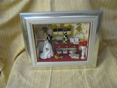 dolls house room box miniatures OOAK ..by.juliapaulminis wedding display 1 | eBay