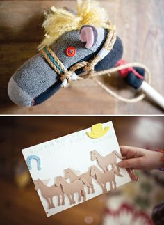 Old West Inspired Cowboy Party | DIY hobby horse made from a sock!