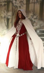 Medieval-Gothic-Medieval-Dress-Dress-Ermina-red-white-with-cloak