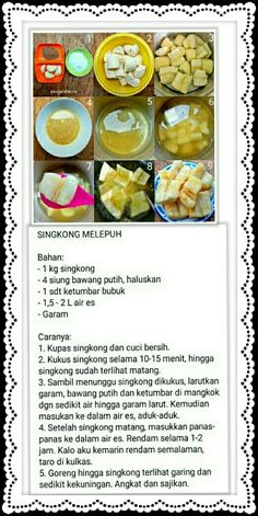 Olahan singkong Indonesian Desserts, Asian Desserts, Indonesian Food, Savory Snacks, Snack Recipes, Cooking Recipes, Malay Food, Simply Recipes, Breakfast For Dinner