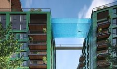 From an all-glass swimming bridge to 'the highest residential pool in London', developers are vying for the fanciest pools to flog their projects to overseas investors