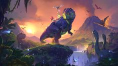 ✔ Key Art: Journey to Un'Goro Artist: Laurel D. Austin