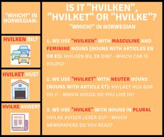 Is it Hvilken? or Hvilke? Learn Norwegian online with Norwegian Academy! Language Study, Learn A New Language, Foreign Language, Norwegian Words, Learning Languages Tips, Norway Language, Stavanger, English Study, Idioms