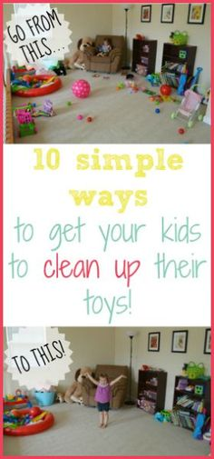 A list of simple games that make cleaning up fun! Great for kiddos