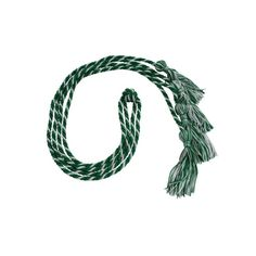 Double Graduation Cords - Cords and Stoles - Green and White Stripes