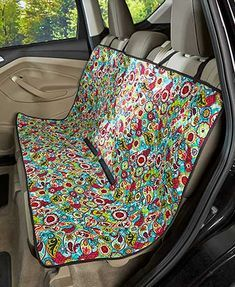 The Quilted Car Seat Cover keeps your vehicle clear of dirt and debris tracked in by furry paws. This easy-to-install, adjustable cover features 2 fabric-magic closures that keep it in place. The durable quilted fabric is water-resistant and has an appea Diy Sewing Projects, Sewing Projects For Beginners, Sewing Hacks, Sewing Tips, Sewing Tutorials, Toddler Car Seat, Baby Car Seats, Clean Car Seats, Toddler Toys