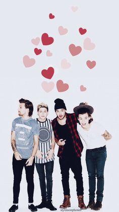 One Direction Valentine Lockscreen • ctto: @stylinsonphones