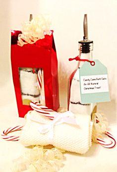 Christmas Bath Salt Gift Bag Candy Cane Twist with by AmykeDesign, $32.00